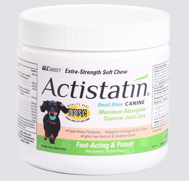 Actistatin® Small Bites Canine Joint Supplement for Dogs